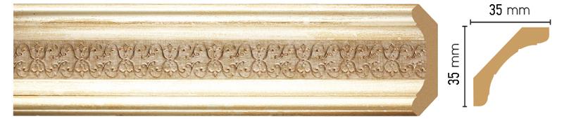 Потолочный плинтус (карниз) Decomaster 167S-281 (размер 35х35х2400)