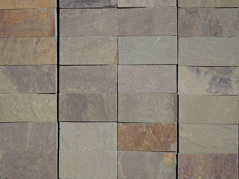 Плитка из природного камня серо-зеленая (1м2)