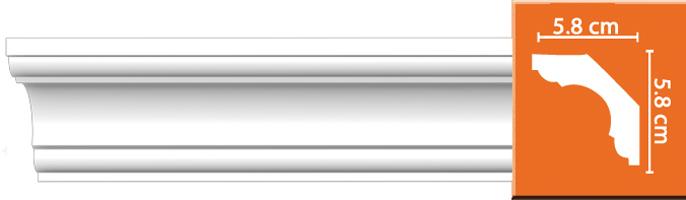 Плинтус гладкий Decomaster DP 110 (размер 58x58x2400)