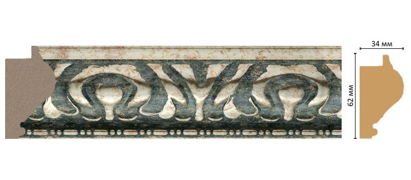 Багет Decomaster 829-935 (размер 62х34х2900)