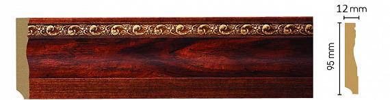 Плинтус напольный Decomaster 153-1084 (размер 95х12х2400)