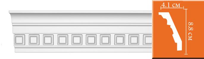 Плинтус с орнаментом Decomaster  95132 (размер 88х41х2400)