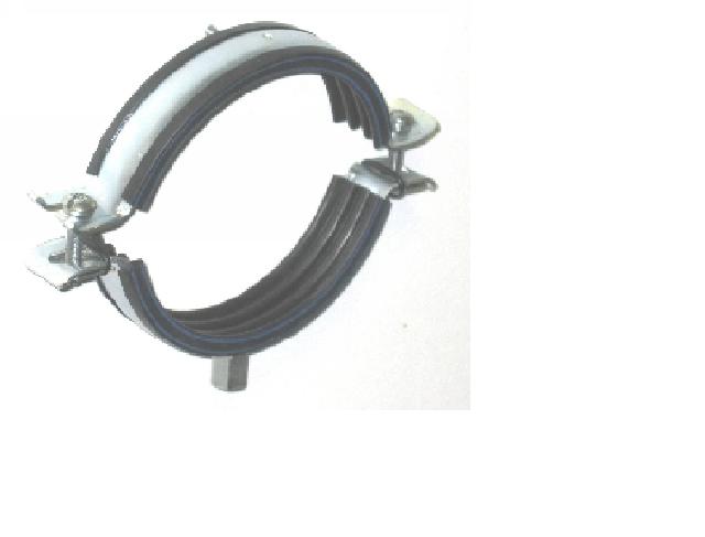 Хомут стальной с резьбой и дюбелем 1