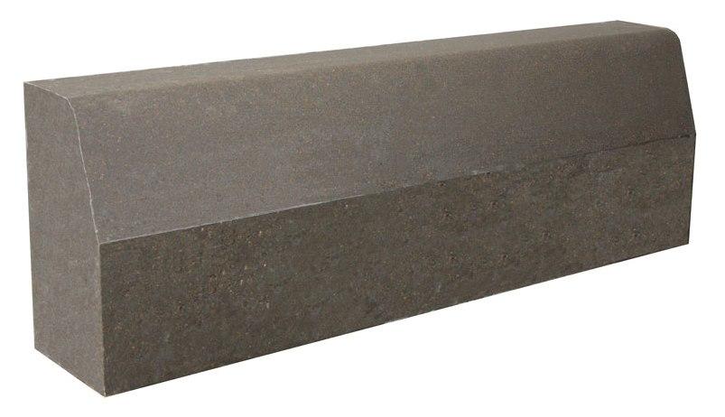 Камень бордюрный дорожный (бордюр), разм. 1000х300х150мм серый