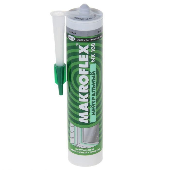 Герметик силиконовый нейтральный Makroflex NX108 белый 290 мл