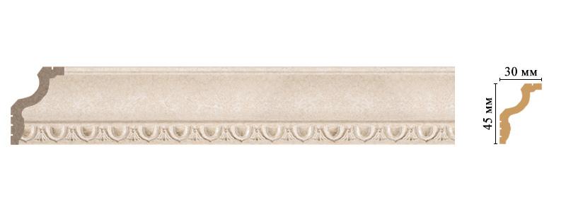 Цветной карниз Decomaster 148D-18D (размер 45х30х2400)
