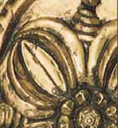 Краска Decomaster Античное золото набор (спрей + банка) 7981