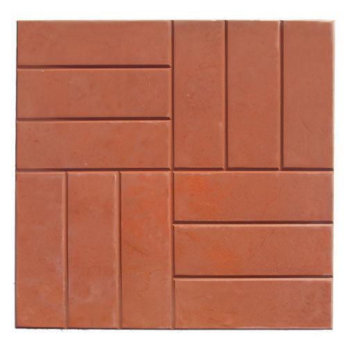 Тротуарная плитка 12 кирпичей красный