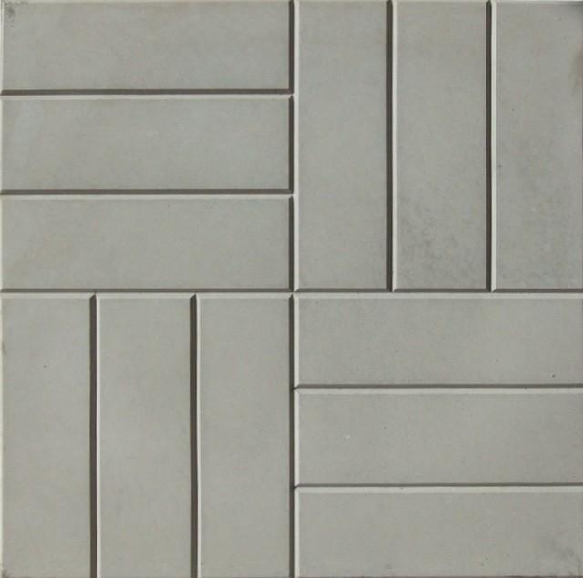 Тротуарная плитка 12 кирпичей темно-серый