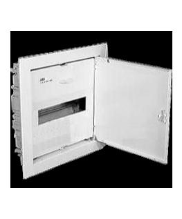 Щит ABB UK 510S (12-14 модулей), врезной, белый с белой металлической дверью