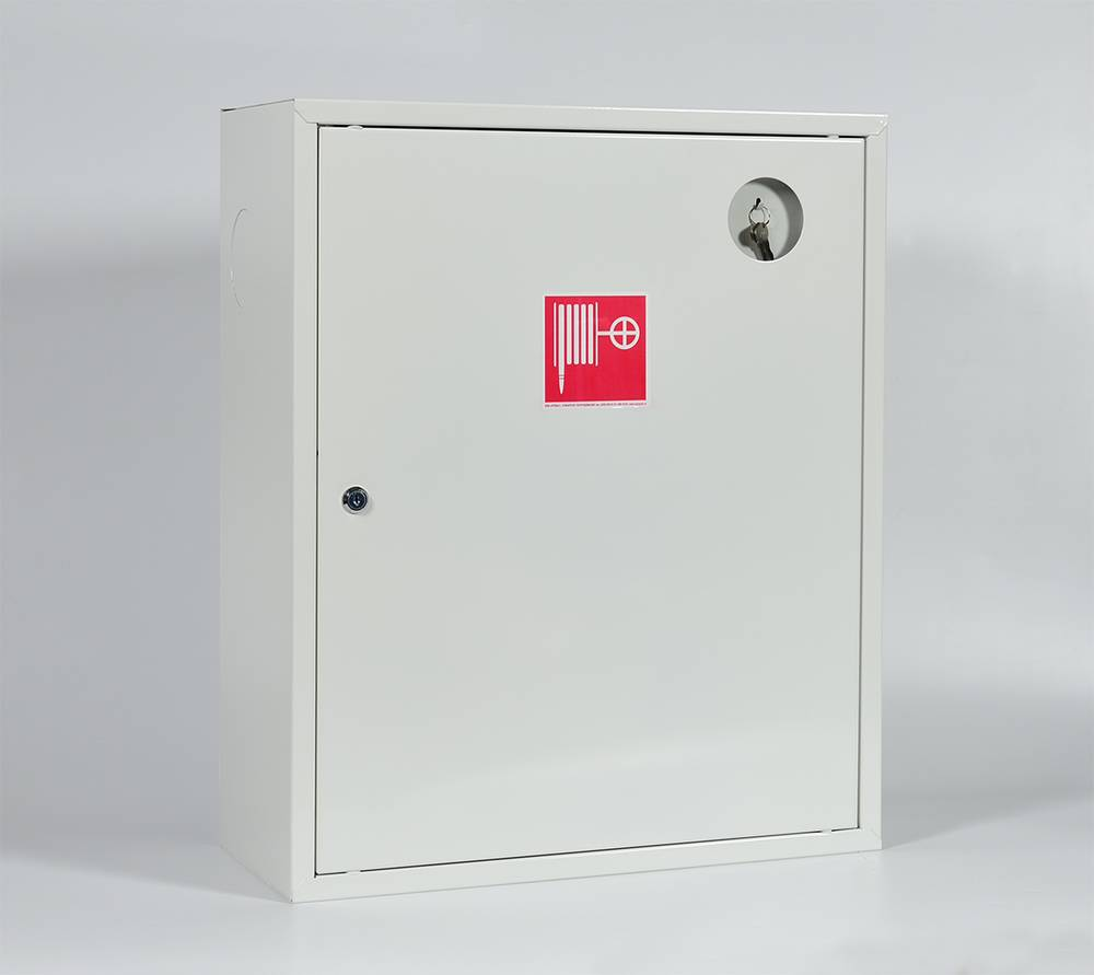 Шкаф пожарный ШПК-310НЗБ навесной закрытый белый
