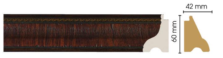 Цветной плинтус напольный  Decomaster 175-2 (62х29х2900)