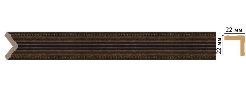 Цветной угол Decomaster 116M-56 (размер 22х22х2400)