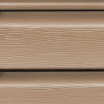 Виниловый сайдинг коричневый (орех)
