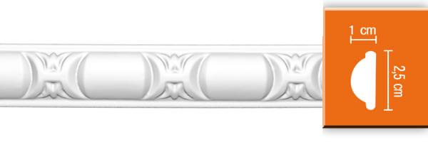 Молдинг с орнаментом Decomaster 98013 гибкий (размер 25х10х2400)