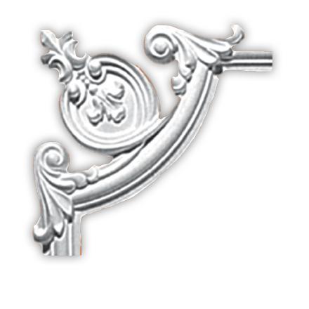 Угол декоративный Decomaster 97010-5 (размер 255х255х18)