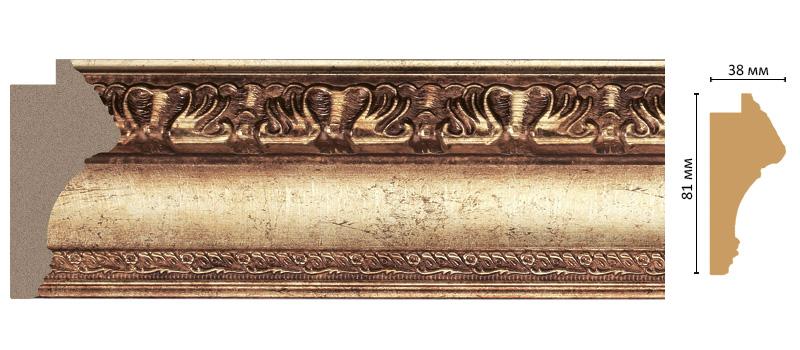 Багет Decomaster 228-126 (размер 81х38х2900)