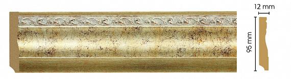 Плинтус напольный Decomaster 153-553 (размер 95х12х2400)
