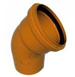 Отвод 110х45гр (для наруж канализации)