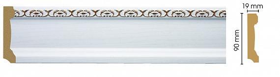 Плинтус напольный Decomaster 166-118 (размер 90х19х2400)