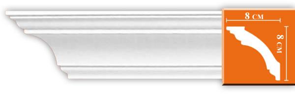 Плинтус гладкий Decomaster DS 213A гибкий (размер 80х80х1200)