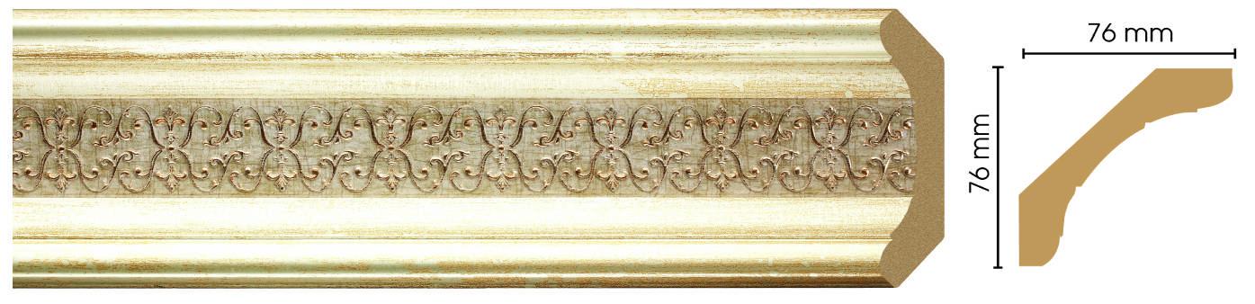 Потолочный плинтус (карниз) Decomaster 169-281 (размер 76х76х2400)