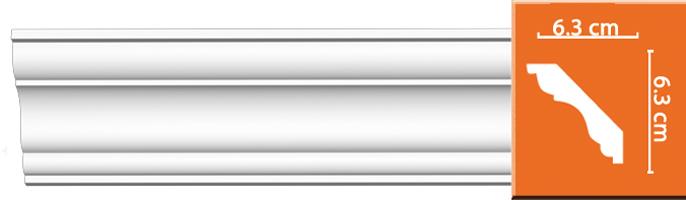 Плинтус гладкий Decomaster DP 337 (размер 63x63x2400)