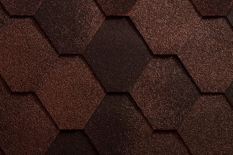 Черепица битумная Икопал АНТИК, коричневый (уп. 3м2)