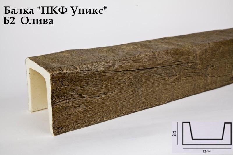 Декоративная балка Уникс (Олива) 120х120х3000