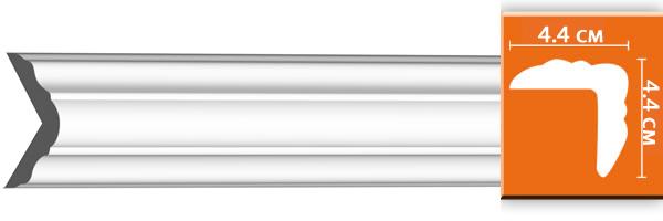 Молдинг  гладкий  Decomaster 96206 гибкий (размер 44х44х2400)