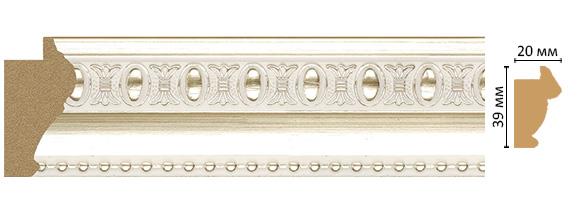Decomaster Багет Decomaster 685-182 (размер 39х20х2900мм) decomaster багет decomaster 808 552 размер 61х26х2900мм