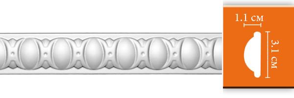 Молдинг с орнаментом Decomaster 98885 гибкий (размер 31х11х2400)