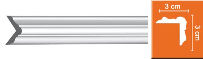 Молдинг гладкий Decomaster 96207 гибкий (размер 30х30х2400)
