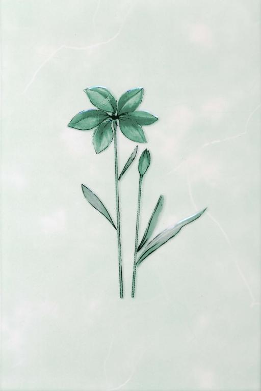Декор Валентино Цветы зеленый 20х30