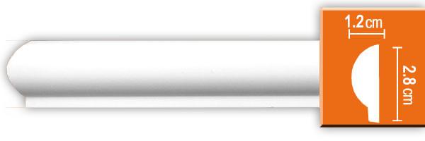 Молдинг гладкий Decomaster 97101 (размер  28x12x2400)