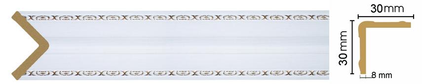Уголок Decomaster116-118 ( размер 30х30х2400)