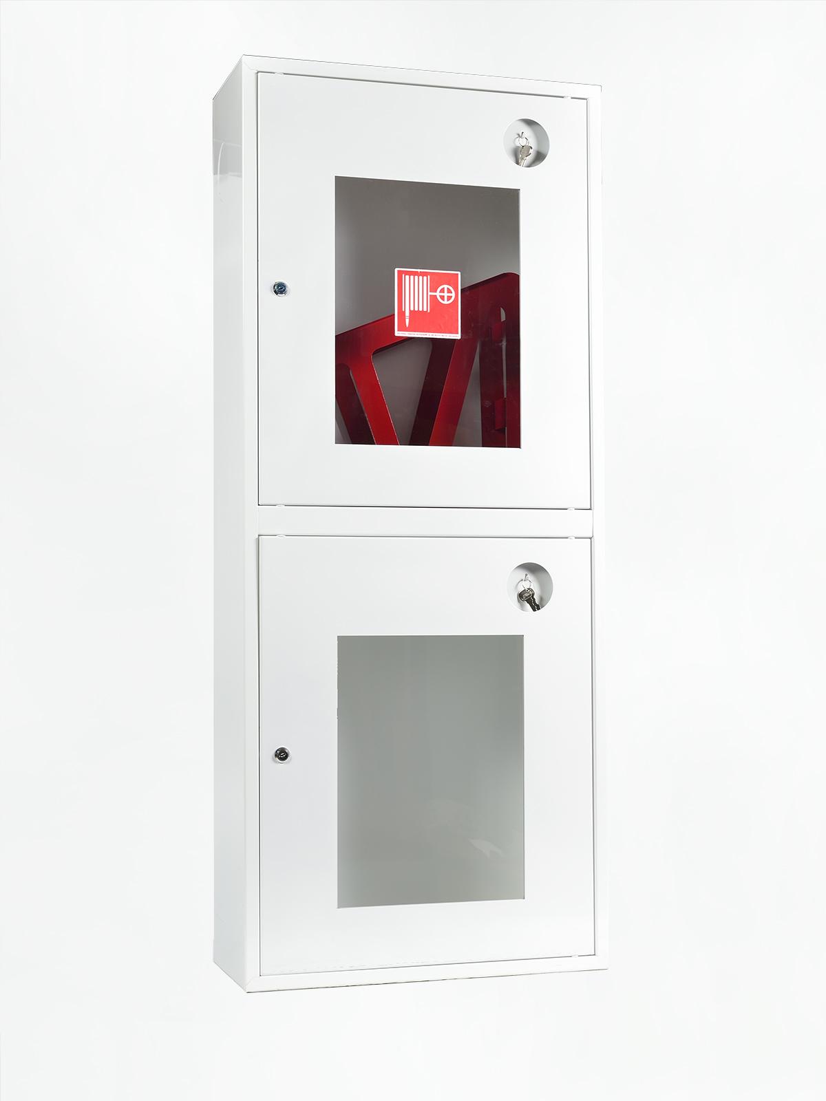 Шкаф пожарный ШПК-320НОБ навесной открытый белый