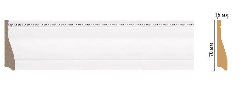 Цветной плинтус Decomaster 193-60 (размер 70х16х2400)