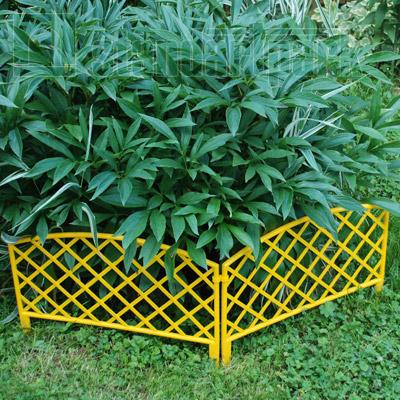 Забор декоративный №6 ЗД-3200.240-ПП пластиковый  желтый 8306-Ж