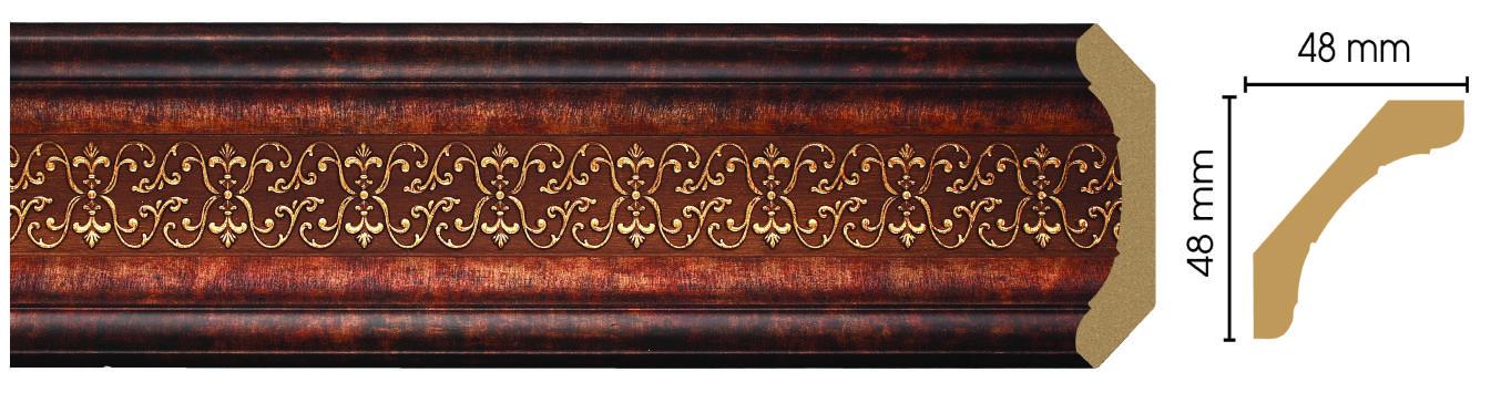 Потолочный плинтус (карниз) Decomaster 167-767 (размер 48х48х2400)