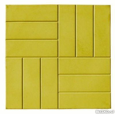 Тротуарная плитка 12 кирпичей желтый
