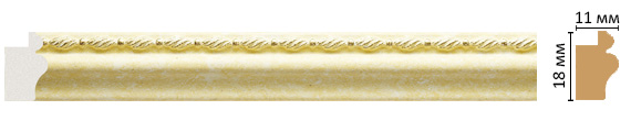 Багет Decomaster 119-36 (18x11x2400)