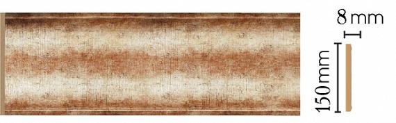 Декоративная панель Decomaster B15-127 (150х9х2400мм)
