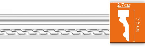Молдинг с орнаментом Decomaster DT 1S (размер 75х27x2400)