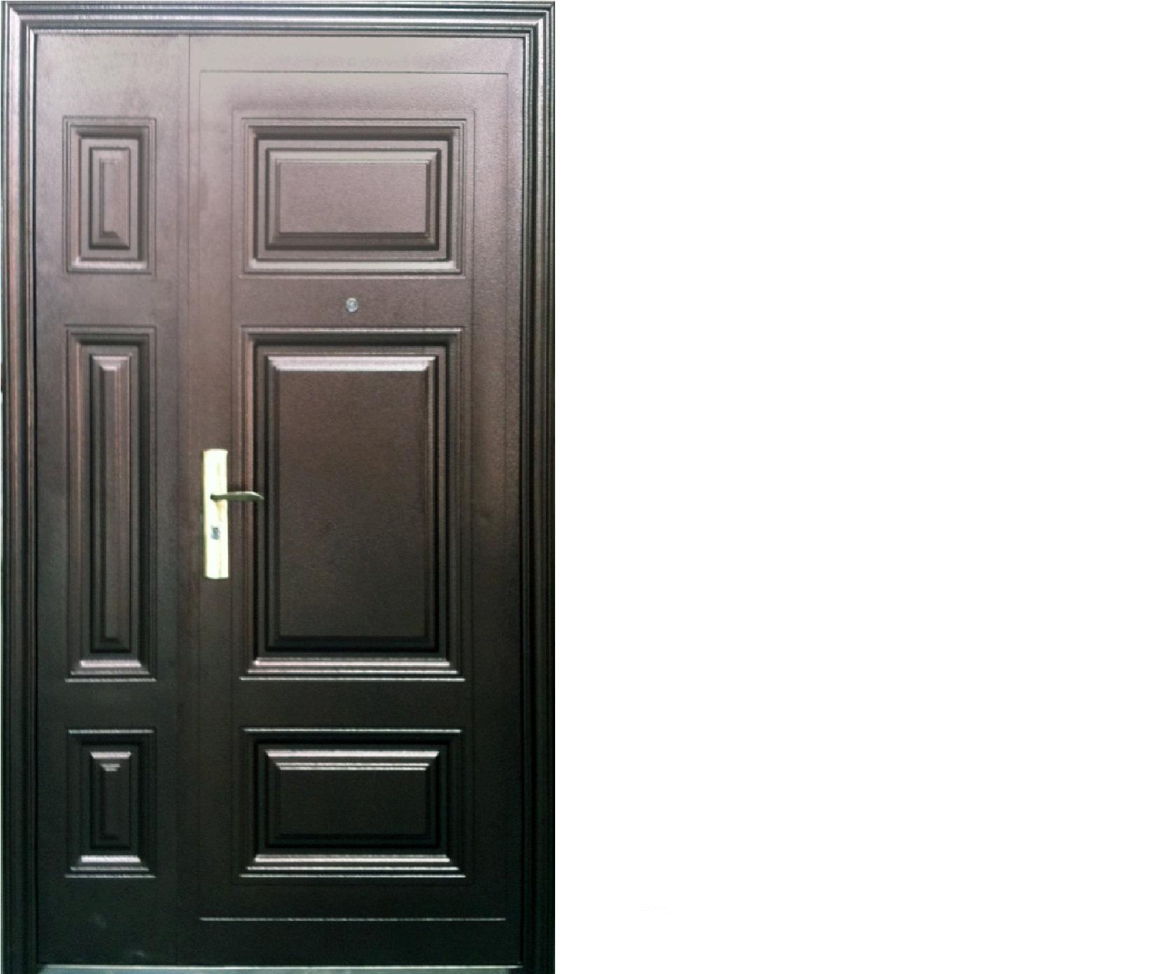 Дверь стальная двухстворчатая 2050х1200х70, модель К-311