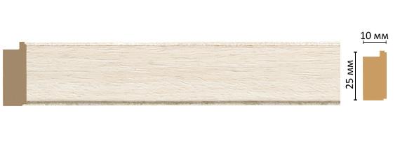 Багет Decomaster 102-15 (размер 25х10х2400)