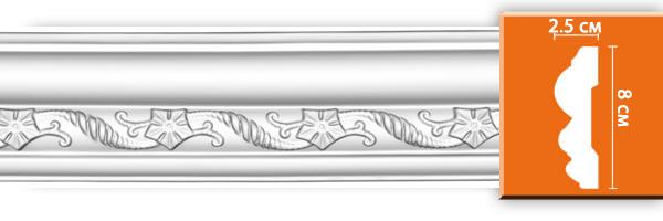 Молдингс орнаменом Decomaster DT 8060 (размер 80х25x2400)