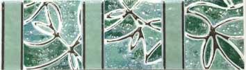 Бордюр Шахтинская плитка Пьетра бирюзовый 20х5,8