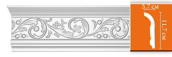 Плинтус с орнаментом Decomaster 95343 (размер 117х57х2400)