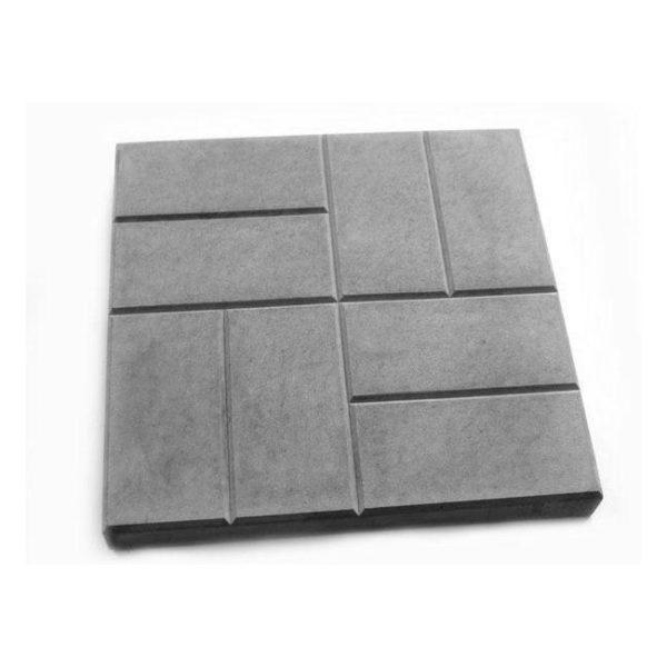 Тротуарная плитка 8 кирпичей черный